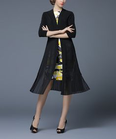 Another great find on #zulily! Black & Yellow Layered Dress #zulilyfinds