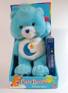 Care Bears Bedtime Bear Plush W/VHS Video Tape By Play Along  2002, New In Box #PlayAlong #AllOccasion
