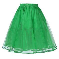 Tulle Women Black White Adult Tutu Skirt Elastic High Waist Pleated Vintage Petticoat Midi Skirt