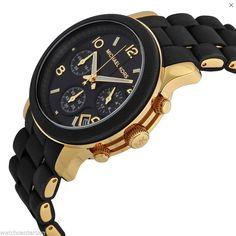 Michael Kors Runway MK5191 Black Catwalk Chronograph Womens Watch