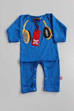 Baby Play Suit with Headphones Motif