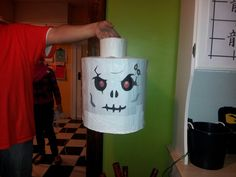 My homemade Ninjago Skeleton Warrior pinata for Calvin's super awesome 7th birthday party!