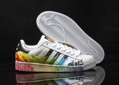 0e8f61586f00 Mens Womens Adidas Superstar Pride Pack Paint Rainbow D70351 Running Shoes  d70351