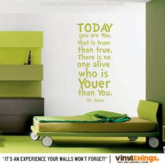 Dr Seuss Wall Decal  Today you are you That is by VinylThingzWalls
