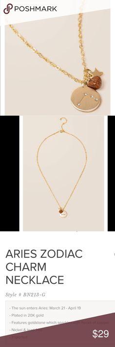 Aries zodiac charm necklace Arise zodiac charm necklace March 21-April 19 Francesca's Collections Jewelry Necklaces