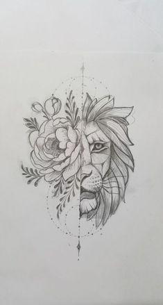 lion sketch tattoos \ lion sketch tattoos + lion tattoo sketch + lion tattoos men sketch + sketch style tattoos lion + lion head tattoos sketch + lion tattoos chest sketch + lion tattoos for men sketch Rose Tattoos, Body Art Tattoos, Tattoo Drawings, New Tattoos, Sleeve Tattoos, Art Drawings, Art Sketches, Sketch Tattoo, Flower Drawings