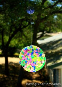 Having Fun at Home: DIY Suncatchers with Clear Glue