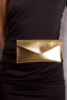 SASH.leather / LEATHER BELT BAG GOLD one 2017