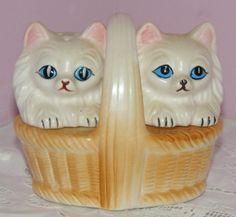 CHARMING VINTAGE SALT PEPPER SHAKER CAT ANIMAL JAPAN  28$