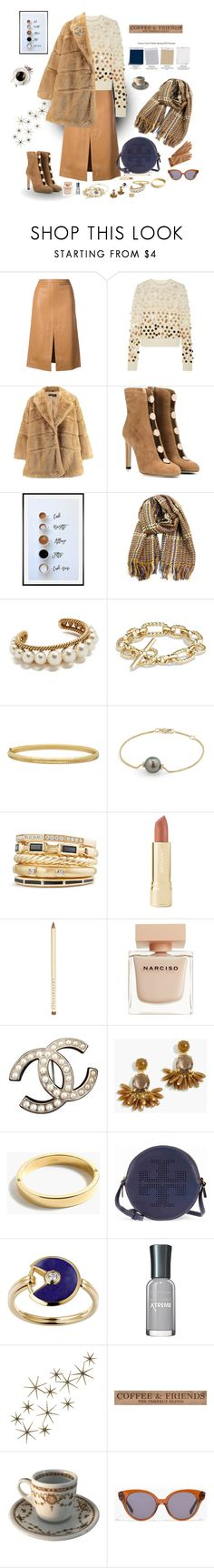 """""""Spring 2018 Pantone colors .. ok but in winter styling"""" by deborah-518 ❤ liked on Polyvore featuring Derek Lam, Marc Jacobs, Jimmy Choo, Pottery Barn, David Yurman, Everlasting Gold, Axiology, Chantecaille, Narciso Rodriguez and Chanel"""