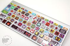 Macbook Keyboard Video Game Theme Skin by killerduckdecals on Etsy Macbook Keyboard Decal, Keyboard Stickers, Keyboard Cover, Macbook Case, Macbook Pro, The Game Is Over, Gaming Room Setup, Game Themes, Pokemon