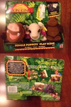 Lion King 44037: Rare 1994 Disney The Lion King Jungle Finger Puppets Set, Nala, Pumbaa, New! -> BUY IT NOW ONLY: $39.99 on eBay!