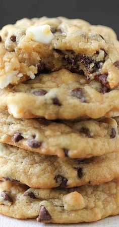 Double Chocolate Chip Pudding Cookies ~  They are SUPER soft and absolutely perfect