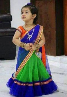 Vikas Kids wear Lehenga With Blouse in Clothing & Accessories, Kids' Clothing, Ethnic Wear Kids Dress Wear, Dresses Kids Girl, Kids Wear, Kids Outfits, Baby Dresses, Children Wear, Kids Saree, Kids Lehenga, Lehenga Choli