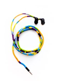 This easy DIY will turn your blah headphones into a perfect summer accessory!