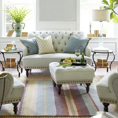 15 Best Ottoman Coffee Tables - Leather, Round, and Tufted Ottoman Coffee Tables Tufted Ottoman Coffee Table, Round Ottoman, Family Room Addition, Modern Ottoman, Small Room Decor, Cool Coffee Tables, Modern Room, Carpe Diem, Living Room Furniture