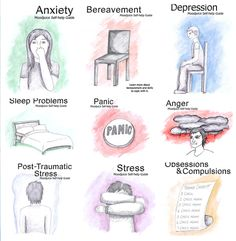 Free Self-Help E-Books: Mood Juice created downloadable PDF self-help books for anger, anxiety, bereavement, chronic pain, depression, obsessions/compulsions, panic, post traumatic stress, shyness and social phobia, sleep problems and stress. The ones I looked at are based largely on CBT