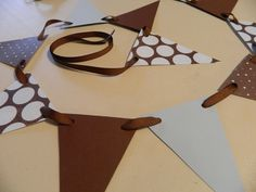 Paper Garland Baby Shower Decorations Brown by anyoccasionbanners, $9.75