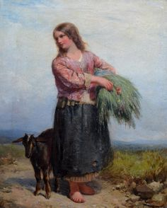 A Fair Young Harvest Girl - Sold