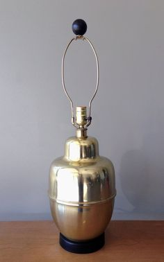 Vintage Brass Urn Lamp - Hollywood Regency Lamp - Chinoiserie - Ginger Jar Lamps