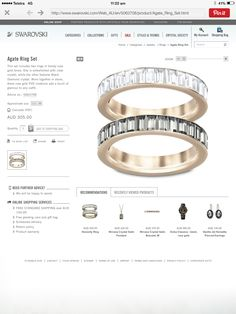 Swarovski Agate ring set $300