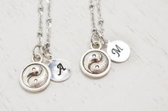 customized best friend necklace setying yang by KimFong on Etsy yoga jewelry  #ying yang necklace,  zen