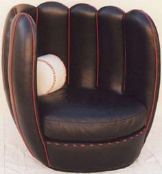 Baseball Glove Chair - I also want this