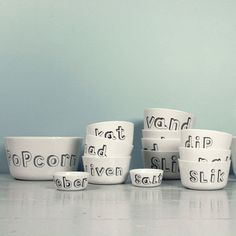 porcelain with text collection from Liebe