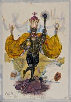IV. The Emperor - Antonio Possenti Tarot by Antonio Possenti