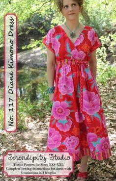 Diane Kimono Dress Pattern