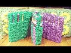 DIY Learn How to Crochet Hook Case Holder Folder Wallet - Pouch Storage for Hooks Diy Crochet Hook Case, Crochet Tools, Learn To Crochet, Easy Crochet, Free Crochet, Crafty Gemini, Diy And Crafts Sewing, Crochet Videos, Crochet For Beginners