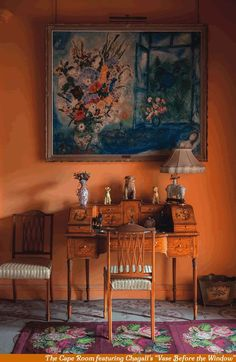 Attractive Living Room Design With Orange Color Themes For This Fall 24 Orange Rooms, Living Room Orange, Orange Walls, Orange Room Decor, Bedroom Orange, Murs Oranges, Decor Interior Design, Interior Decorating, Modern Floor Lamps