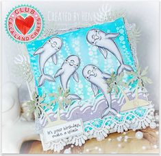 From our Design Team! Card by Henryka Kowacz featuring Club La-La Land Crafts June 2016 exclusive Summer Vacation Marci, Oceans of Joy stamp set and these Dies - Palm Tree Island, Palm Leaves (set of 2) and Tropical Border :-) Club La-La Land Crafts subscription details are here - http://lalalandcrafts.com/Club_La-La_Land_Crafts.html  Coloring details and more Design Team inspiration here -  http://lalalandcrafts.blogspot.ie/2016/07/club-la-la-land-crafts-june-2016-kit.html