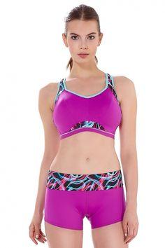 Freya Active Sports Bra in ultraviolet by EU-cupsizing D-K Purple Crop Top, H Cup, Lingerie Collection, Spring Summer 2016, Ultra Violet, Bikinis, Swimwear, Sportswear, Underwear