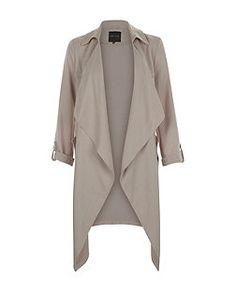 Mink Waterfall Duster Coat  | New Look