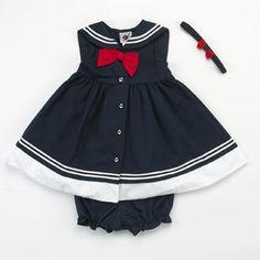 nautical little girls dress.