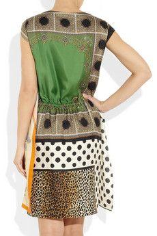 D&G Silk Scarf Dress Back View.  DressologyHQ Dress of the Week  dressologyhq.blogspot.com