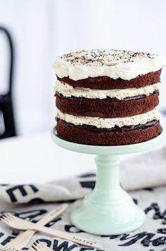 Louise´s Spis: Naked Chocolate and Licorice Cake (Choklad- och Lakritstårta)