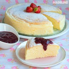 Japanese Cotton Cheesecake, Low Carb Deserts, Baby Food Recipes, Vanilla Cake, Gem, Food And Drink, Healthy Eating, Gluten, Sweets