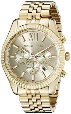 Michael Kors MK8281 Lexington Gold-Tone Stainless Steel Watch