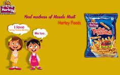 Enjoy the real madness of mouth watering taste of real Indian Masala in Harley's   Tedha-Medha. For more visit http://www.harleyfoods.com/tedha_medha.html