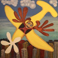 Flying/Maarit Korhonen, acrylic, canvas, 92cm x 92cm Dark Paintings, Original Paintings, Online Painting, Artwork Online, Dancer In The Dark, Autumn Painting, Original Art For Sale, Acrylic Canvas, Artists Like
