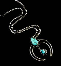 61g Vintage Navajo Sterling Silver Naja pendant Necklace w