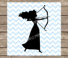 Merida Brave SVG File .SVG PNG DXF  Brave Archer SVG file for any compatible electric cutting machine. Download the file attached and import the image into any compatible cutting machine software.  ---------------PLEASE NOTE: This listing is for digital d