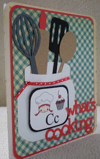 Kitchen tools card but wouldn't it make a wonderful recipe book cover?