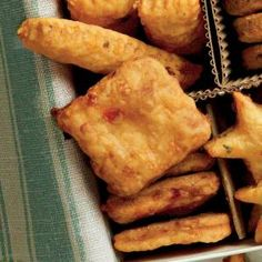 60 Easiest Finger Foods Ever   Pimiento Cheese Squares   MyRecipes.com