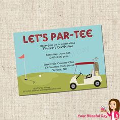PRINTABLE Golf Party Invitation by yourblissfulday on Etsy, $10.00
