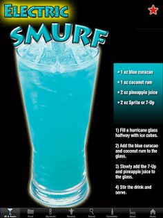 Mr. Alan's...since 1974: J's Drink of the Week....Electric Smurf