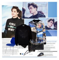 """Call me baby"" by rainie-minnie ❤ liked on Polyvore featuring Blood Brother, Kartell, Cheap Monday, Kenzo, Thom Browne, adidas, mens, men, men's wear and mens wear"