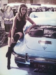 A Jaguar E Type V12 Coupé: lots of attention at the October 1971 Earls Court Motor Show